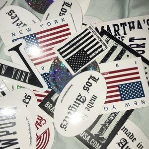 Random stickers from Brandy Melville